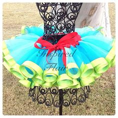 Haute Couture Easter and Spring Carnival Pettiskirt - Super Full handmade Tutu - Birthdays, photo props, pageants, family photos on Etsy, $45.00