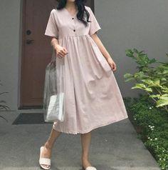2f3055f582b 2Colors Linen loose dress - Linen Maxi Dress- Linen long Dress- Linen  sleeve dress - Linen tunic Dre