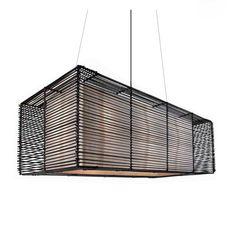 Kai Rectangular Outdoor Hanging Lamp by Hive | LKI-1610OD
