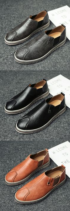 cc19053a600 US  28.6 Prelesty Men Chelsea Design Autumn Shoes Business Handsome Cool  Vintage Formal Loafers Slip Ons