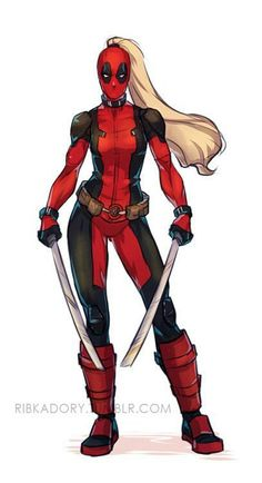 (tu x chicas de marvel fem) by (Wilmer Aparicio Vargas) with reads. Lady Deadpool, Deadpool Art, Female Deadpool, Female Avengers, Deadpool Stuff, Marvel Comic Universe, Marvel Dc Comics, Marvel Heroes, Marvel Girls