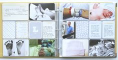Photo/memory/journal for kids. Good idea! Why make all separate books!