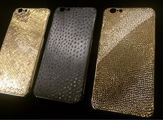 La mela iPhone case cover luxury handmade in italy  18 Kt gold