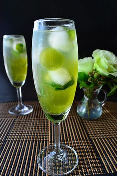 ミントと抹茶のラムソーダ わらび餅入り Cocktail  ノンアルコール版レシピ付 |レシピブログ