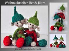 Häkelanleitung, DIY - Weihnachtself - Ebook, PDF
