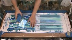 KMS 13 ~ Acrylics and Floetrol - The Big Swipe - YouTube