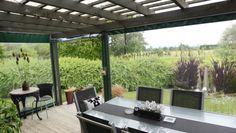 verandah with roll-down plastic sides
