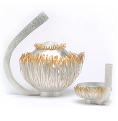 Sarah Hutchinson | Sterling Silver, 24ct Gold Plate, Diamonds