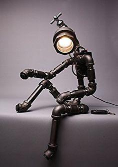 Roboter Lampen Wohnzimmer Schlafzimmer Deluxe Eisen Edelstahl Stahl Lampe Asien Handarbeit Wohnzimmer Design Tischlampe Schöne dekorative Lampe aus hergestellt in Korea Leuchte Dekoration Nachtischlampe: Amazon.de: Beleuchtung
