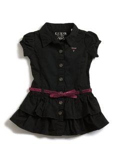 GUESS Kids Girls Little Girl Twill Dress « Clothing Impulse