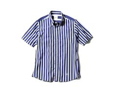uniform experiment S/S BOLD STRIPE PATTERN MIX B.D SHIRT