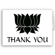 asian style lotus thank you greeting #cards from AsiaMajor #zazzle