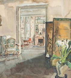 Follower of Walter Gay (American, 1856-1937)  Chez Madame Marthe Hyde, 1 Rue Beethoven Paris  unsigned; title inscribed (on reverse)