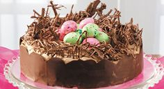 Easter Nest Torte Recipe #chocolates #sweet #yummy #delicious #food #chocolaterecipes #choco