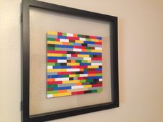 Lego picture I made for my son's room! Just used thin shadow box frame.
