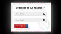 Newsletter Sign Up Form - FREE