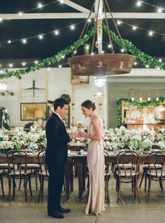 Elegant green and white wedding at Big Daddy's Antiques.