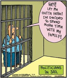 Free Range by Bill Whitehead Friday, September 2014 Prison Humor, Lawyer Jokes, Executive Branch, Free Range, Politicians, Comic Strips, Clever, Let It Be, Memes