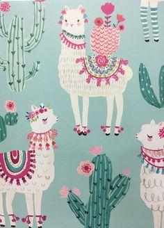 Alpacas, Cute Wallpapers, Wallpaper Backgrounds, Iphone Wallpaper, Phone Backgrounds, Alpaca Illustration, Paper Cactus, Cactus Cactus, Llama Arts