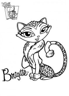 Bratz Petz Color Page Cartoon Characters Coloring Pages For Kids Thousands Of Free Printable