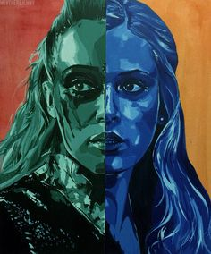 / clexa // green for ground blue for sky