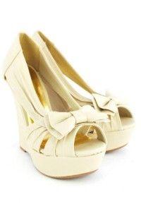 ivory wedges shoes | qupid bikini 154 ivory wedges beautiful in bows bikini 154 is a wedge …