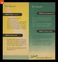 #Vernors recipe book, circa 1950.