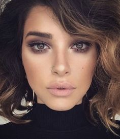 purple brown smokey eye w/ winged liner warm tones brown eyes matte eyeshadow #perfectwingedliner #smokeywingedliner