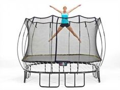 A 20-minute trampoline workout! I can do this at work with out anyone noticing!!!