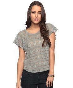 Gilded Lace Top - StyleSays