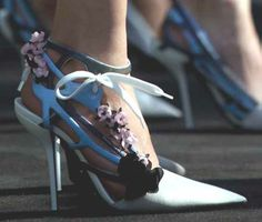 Dior shoes embellished with flowers, Spring 2014.