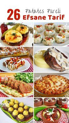 Turkish Recipes, Italian Recipes, Ethnic Recipes, Fish And Meat, Fish And Seafood, Roasted Eggplant Dip, Turkish Kitchen, Potato Puree, Kebab Recipes