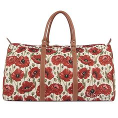 Signare Womens Fashion Canvas Tapestry Big Holdall Weekender Luggage Bag Poppy Design * Find out more about the great product at the image link. (This is an Amazon Affiliate link and I receive a commission for the sales)