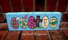 Easter canvas art by ThreeLittleCajuns on Etsy, $25.00