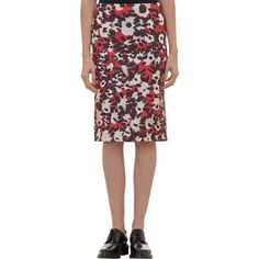 Marni Painterly Floral-Print Pencil Skirt Sale up to 70% off at Barneyswarehouse.com
