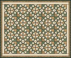 Vermont 2 1800's paper piecing quilt pattern