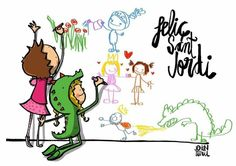Sant Jordi by Turu, Kids Poster, Fairy Tales, Illustration Art, Sketches, Comics, Words, Drawings, Prints