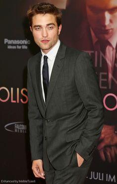 Robert Pattinson at the premier of Cosmopolis in Berlin, Germany, June 2012.