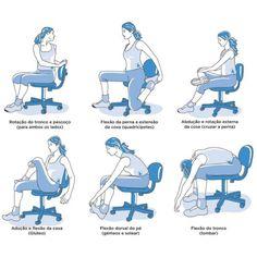 Quem trabalha o dia todo sentado não pode deixar de esticar o corpo  vez  em quando. O alongamento melhora as articulações e proporciona maior agilidade, além de prevenir lesões.   #Dica #PróAtiva