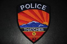 Thatcher Police Patch, Graham County, Arizona