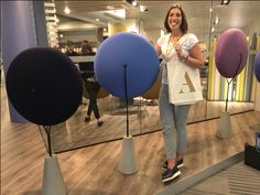 Allermuir at NeoCon 2016  Baudot Zeros outside the showroom and a happy owner of an Allermuir bag!