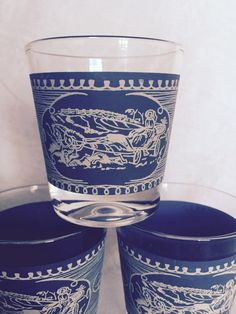 Currier and Ives by Royal China Vintage Hi Ball by Retroredo4u