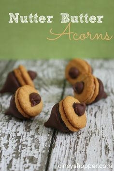 Nutter Butter Acorns. A Simple fall snack. Great for after school snack.