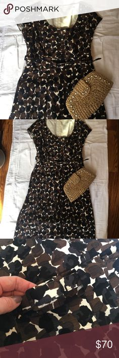 NWOT Boden Cotton Dress 12 NWOT Boden Cotton Dress Size 12. Never worn. Belted Cotton Dress super flattering! Perfect for work or a shower of any kind! Slight discoloration @inside lining (📸) occurred during storage, but otherwise excellent condition! Boden Dresses