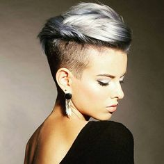 30 Stylish Short Hairstyles for Girls and Women: Curly, Wavy, Straight Hair Trendy Pixie Haircut - Short Hairstyle Ideas 2016 Undercut Hairstyles, Pixie Hairstyles, Straight Hairstyles, Cool Hairstyles, Hairstyle Ideas, Pixie Haircuts, Hairstyles 2016, Women's Shaved Hairstyles, Short Haircuts Women