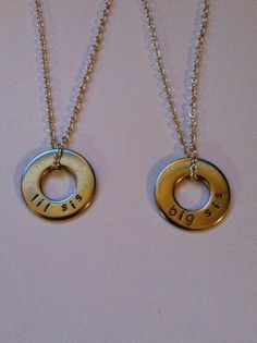Sister Necklace Big Sister Little Sister by HazelJewelryDesigns, $44.00