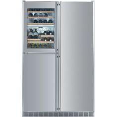 Liebherr 21.8 Cu. Ft. 5 Zone Built-In Side-By-Side Refrigerator - Stainless Steel - SBS-246