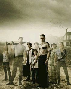 This pic bothers me. No Carol or Daryl, plus Amy never made it to Hershel's house... But it's still a cool concept.