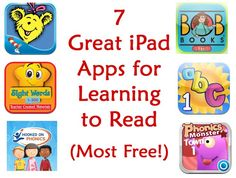 "Learning to read apps...great for budding readers! Apps helped my technology geared son learn to speak when he was delayed, I've no doubt it can also help him learn to read...caution for myself: Use with careful moderation and supervision, I'm not raising a ""zombie"""