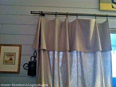 http://www.hellolifeonline.com, drop cloth, curtain, diy